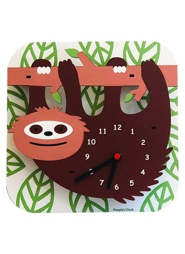 Peoples Clock Tembel Hayvan Özel Tasarım Duvar Saati Renkli